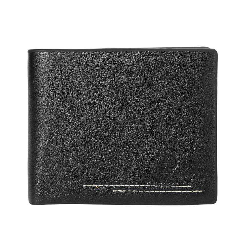 JPT-630-1Multi Card Man Single Package Sheet PU Wallet Are Men - BLACK