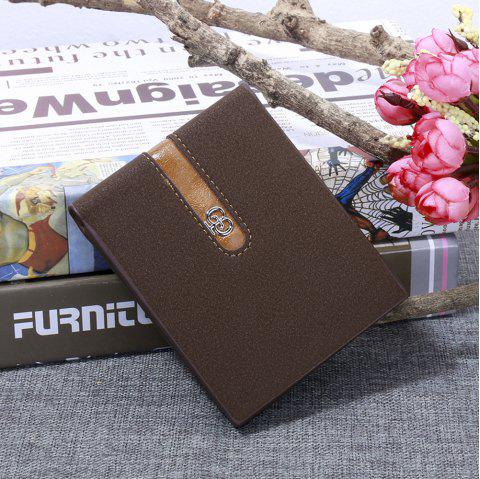 JPT-1031 Men'S Wallet Business Fashion Short Hinge with Multi Card Wallet - BROWNIE