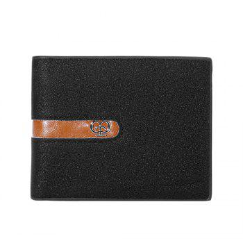 JPT-1031 Men'S Wallet Business Fashion Short Hinge with Multi Card Wallet -  BLACK