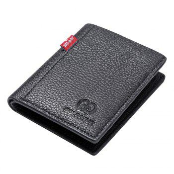 Portable Soft Lychee Print Wallet Men Bifold Short Card Holder