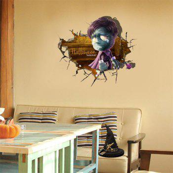 3D Halloween Cartoon Wallpaper Bedroom High Definition Self-adhesive Stickers - MARIGOLD MARIGOLD