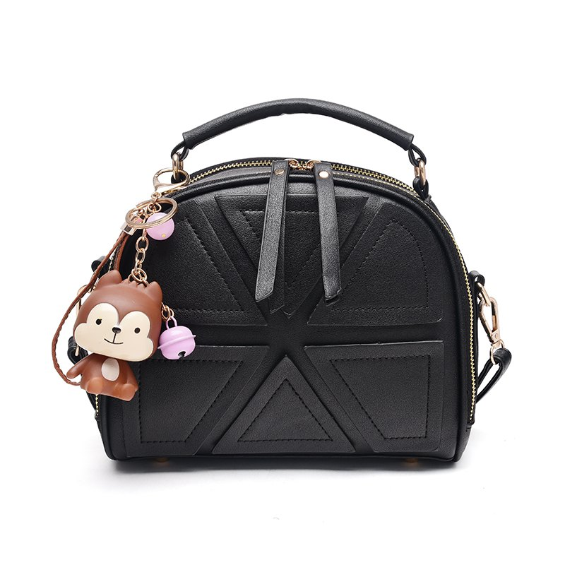 New Women's Handbag Korean Style Shoulder Bag - BLACK