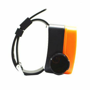 Outdoor Water Drowning Emergency Self Rescue Airbag Bracelet -  BLACK/ORANGE