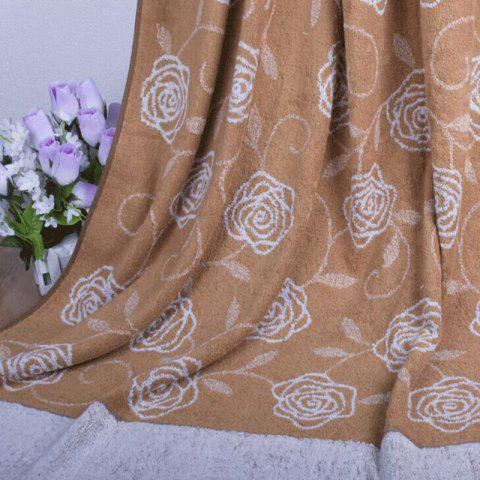 Cotton Towel Blanket for Adult - BROWN