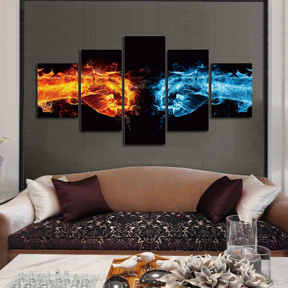 Abstract 5Panel Unframed Canvas Prints Wall Art wall art sunset pyramids printed unframed canvas paintings
