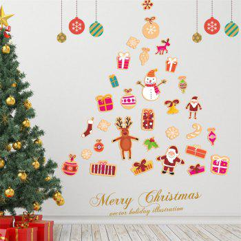 Santa Claus Christmas Tree Wall Sticker -  COLORMIX