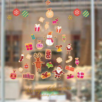 Santa Claus Christmas Tree Wall Sticker - COLORMIX COLORMIX