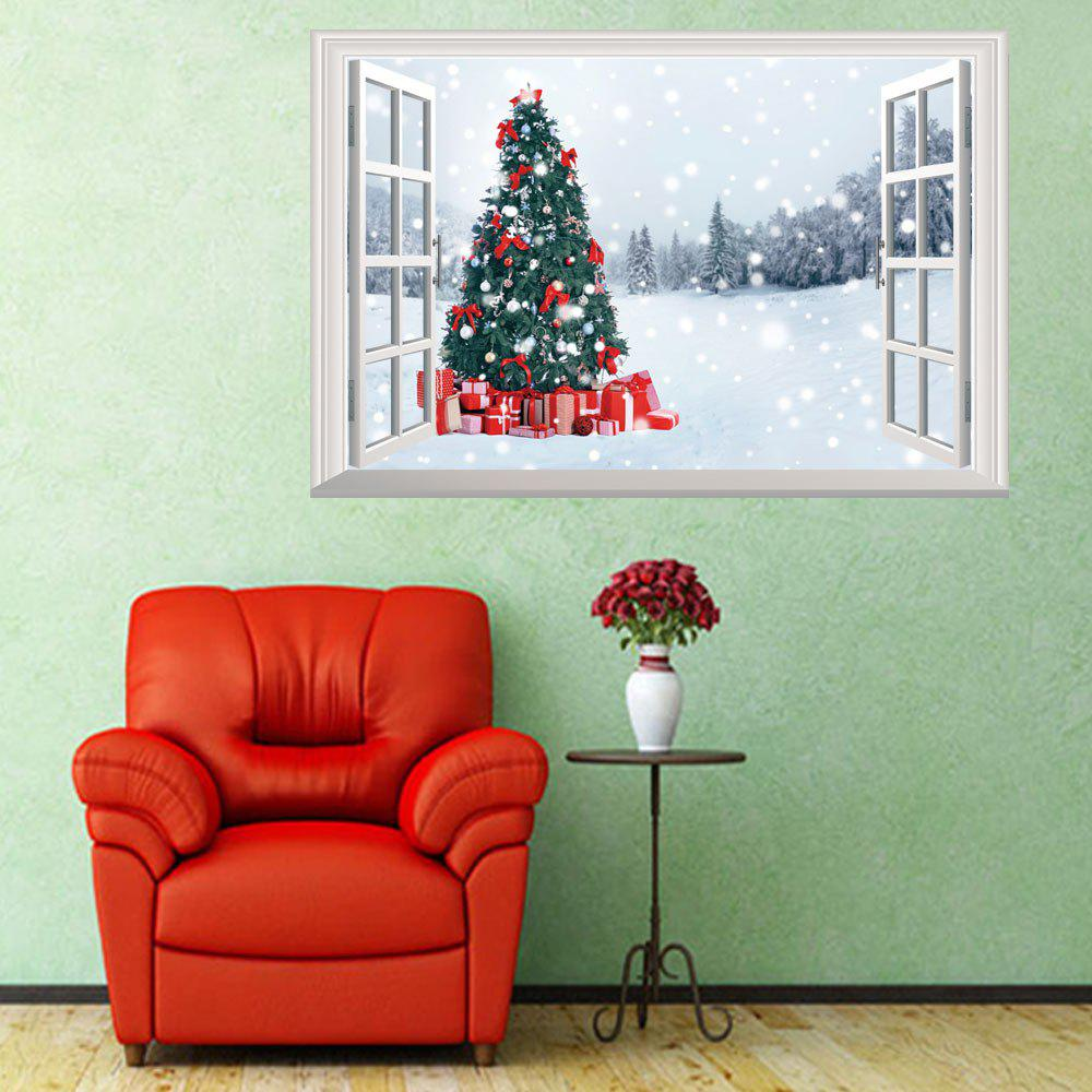 Personality Christmas Snowman 3D Home Decoration Wall Stickers 50 x 70cm - COLORMIX