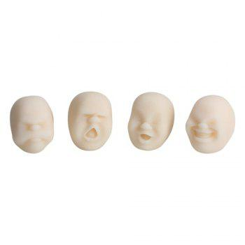 4Pcs Creative Decompression Prop TPR Kneading Clownish Human Face Anti-Stress Vent Ball Relaxation Helper Stress Pressure Reducing Toy - SNOW WHITE SNOW WHITE