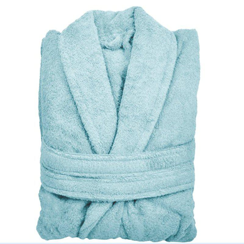 Cotton Bathrobe - BLUE