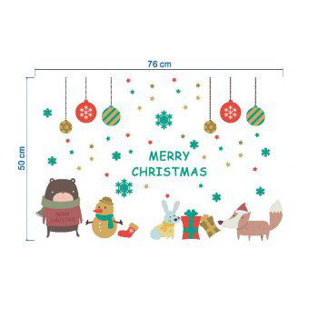 Tree Merry Christmas Wall Stickers Mural Decal Paper Winter Art Holiday Room Decor -  COLORMIX