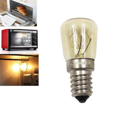 Oven Light Bulb E14 25W High Temperature 300 Degree Yellow Toaster Tungsten Filament Bulb - YELLOW AC110-120V