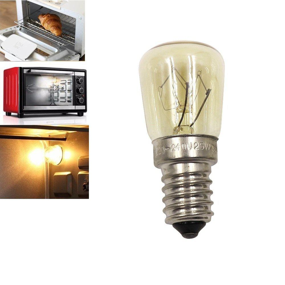 Oven Light Bulb E14 25W High Temperature 300 Degree Yellow Toaster Tungsten Filament Bulb - YELLOW AC220-240V