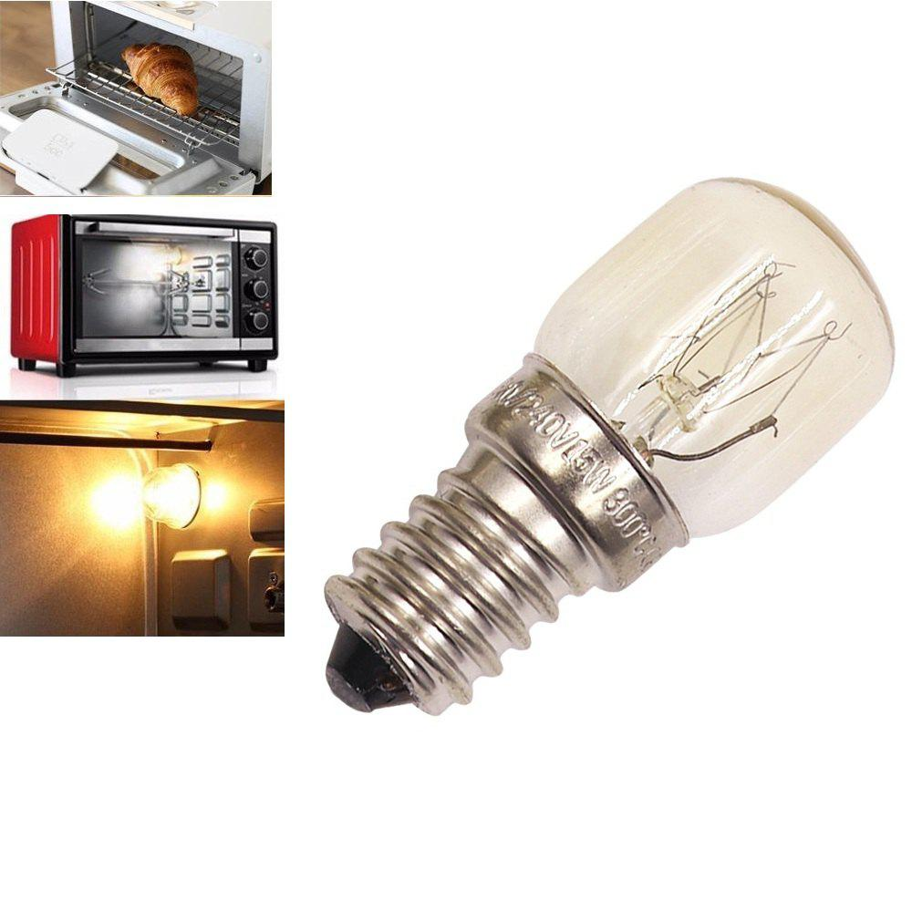 Oven Light Bulb E14 15W High Temperature 300 Degree Yellow Toaster Tungsten Filament Bulb - YELLOW AC220-240V