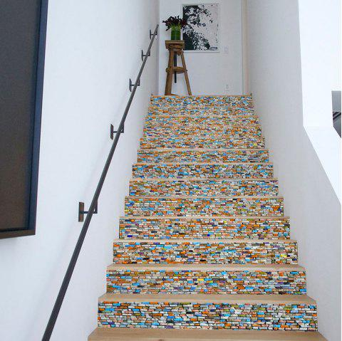 limited offer] 2019 colored stones style stair sticker wall decor in