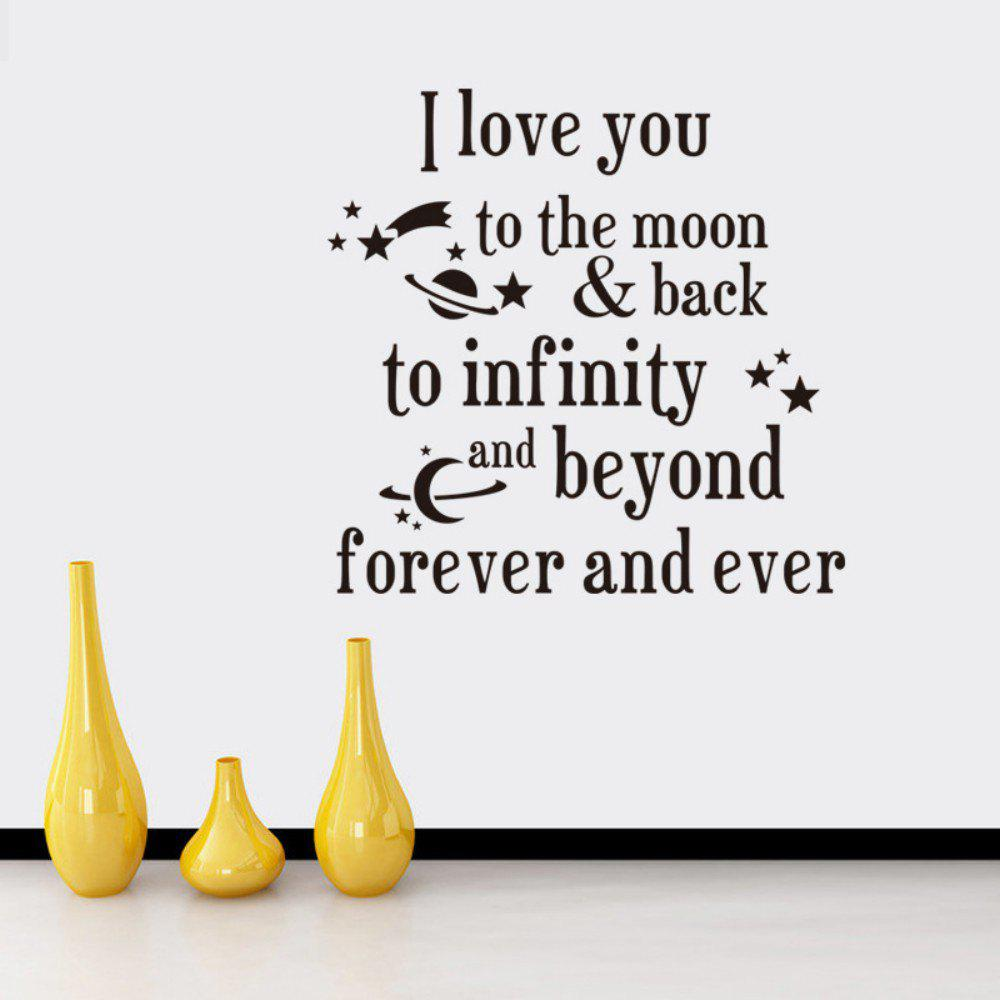 DSU English Quote I Love You Forever Ever Simple Art Wall Stickers