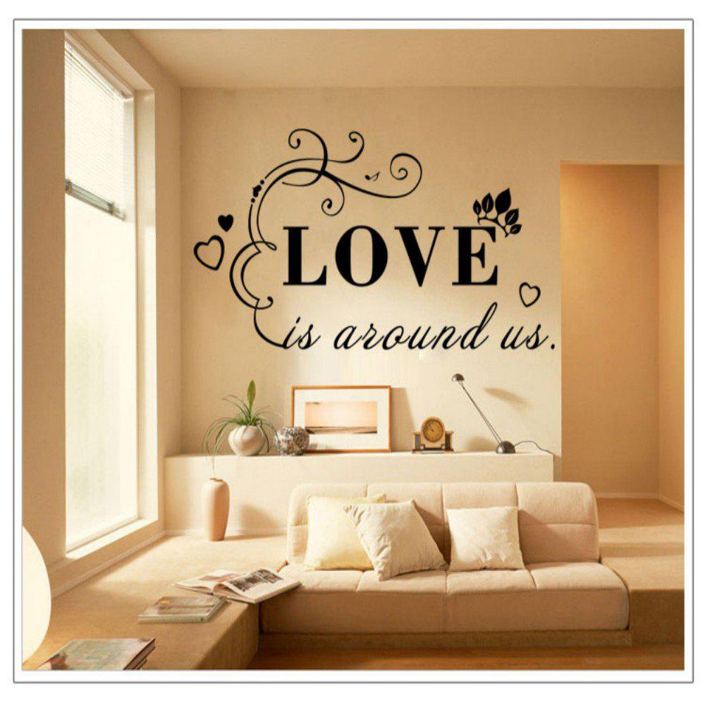 DSU Love Letters Pattern Simple Art Wall Sticker
