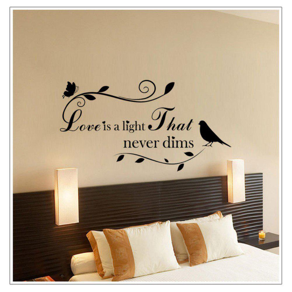 2018 dsu love is light that never dims english quote art wall dsu love is light that never dims english quote art wall stickers black amipublicfo Image collections