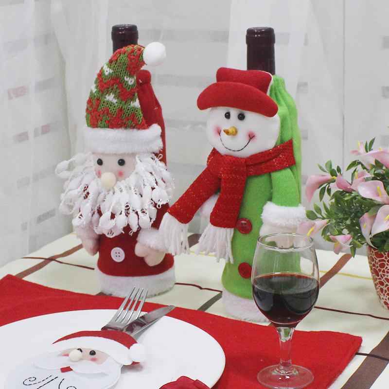 WS 0096 Creative Embroidery Old Man Snowman Christmas Tree Wine Set Gift Bag каркам wf 0096