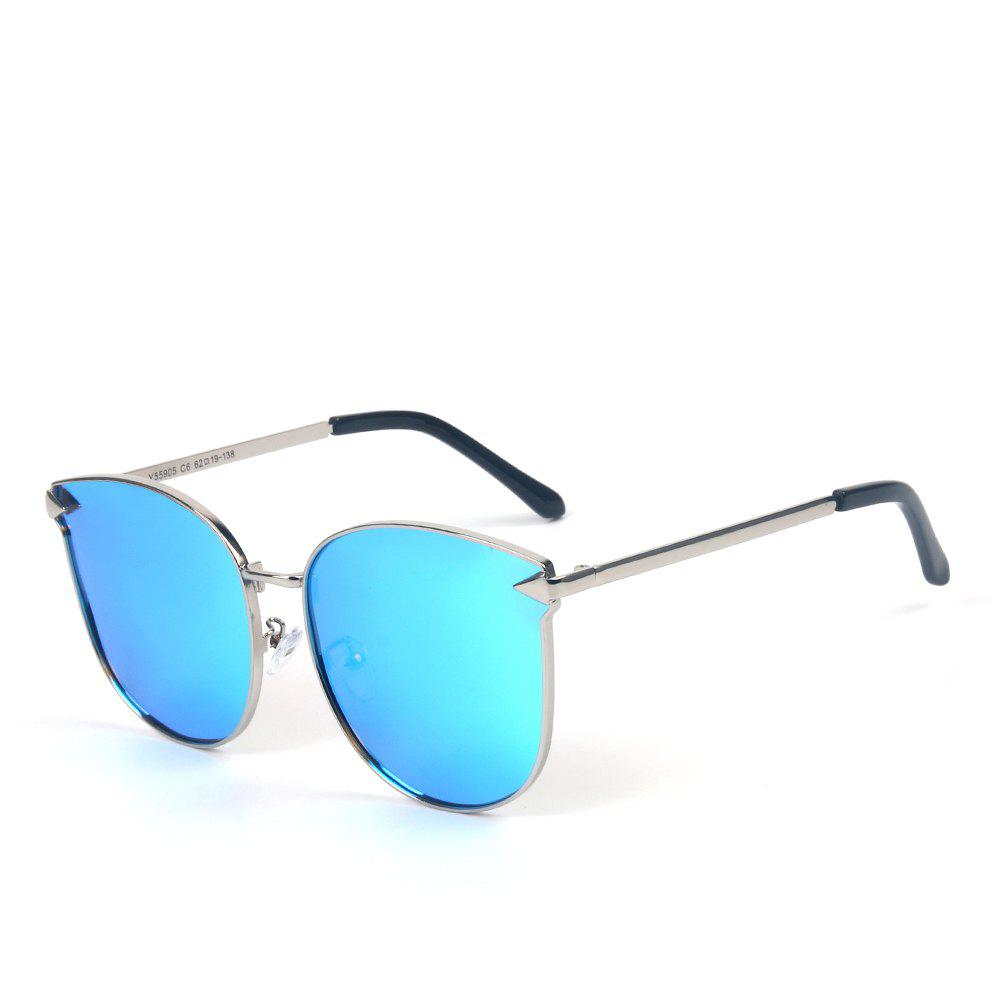 TOMYE 55905 2018 New Metal Arrow Cat Eye Polarized Sunglasses for Women - BLUE