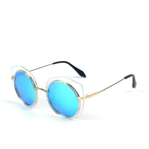 TOMYE 55907 2018 New PC Metal Cat Eye Women Polarized Sunglasses - ICE BLUE