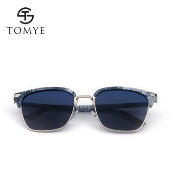 TOMYE 55911 2018 New Fashion PC Metal Square Frame Color Polarized Sunglasses for Women and Men - BLUE