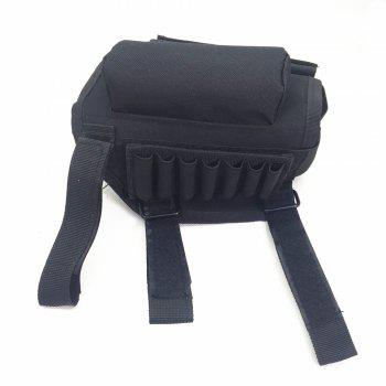Nylon Buttstock Cover with Sponge Cheek Rest Pad / 7-hole Pouch - BLACK