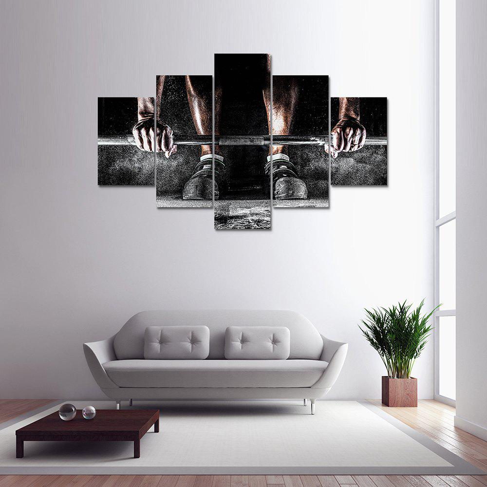 5 Panel Bodybuilding Canvas Print Painting Home Decoration Wall Rrt Picture diy beads painting flower cross stitch wall decoration