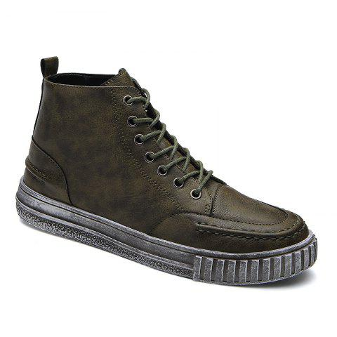 Men's High Top Retro Casual Shoes - ARMY GREEN 44