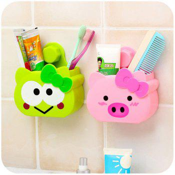 Bathroom Rack Suction Cup Storage Rack Wall Hanging Bathroom Storage Rack - Frog -  GREEN