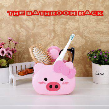 Bathroom Rack Suction Cup Storage Rack Wall Hanging Bathroom Storage Rack - Pig - PINK PINK