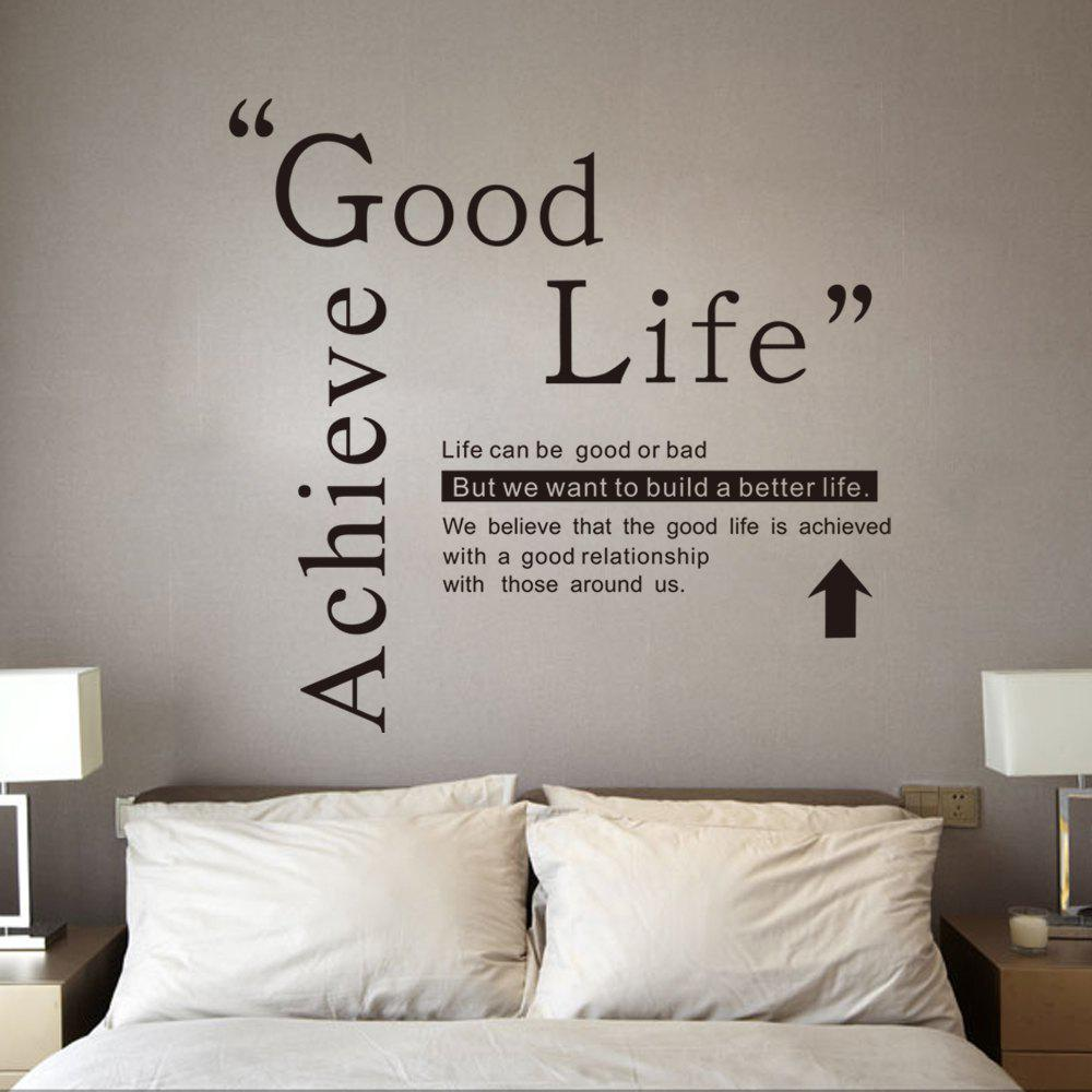 2018 Dsu Good Life Wall Sticker Quotes English Motto