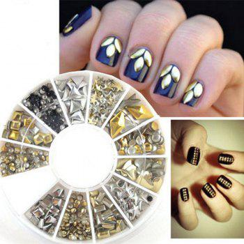240PCS Nail Art Mixte Rivet Formes Acrylique Strass Nail Art Décorations