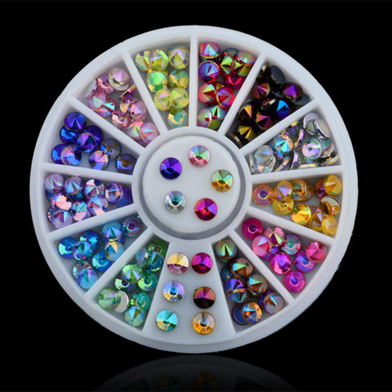 Colorful Sharp Crystal 3D Nail Rhinestone Wheel Shiny Glitter Nail Art Tips Decoration Tools fwc water transfer christmas designs nail art sticker decal foil adhesive manicure tips nail decoration makeup tools 2170