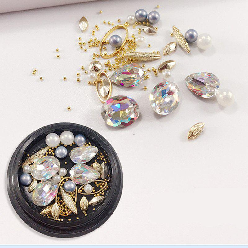 1 Box Decorative Big Color Intrigue Jewel Pearl Accessories Mixed Style  Nail Art Decoration 80PCS illusion money box dream box money from empty box wonder box magic tricks props comedy mentalism gimmick