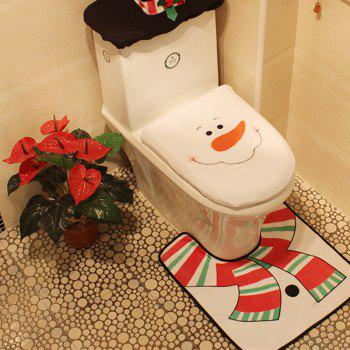 WS 0093 Bathroom Toilet Cover Set Gift and Decoration for Christmas and New Year - COLORMIX
