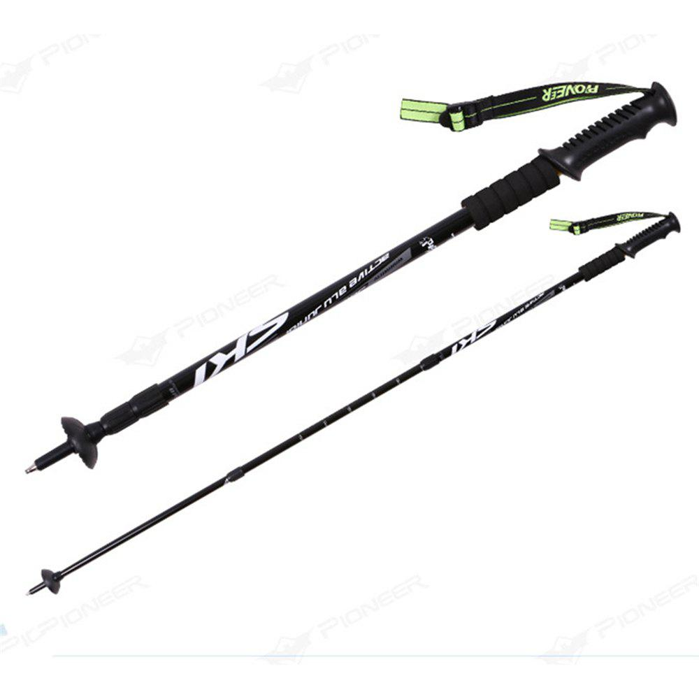 Trekking Poles Folding-Collapsible Hiking Poles Walking Stick - BLACK