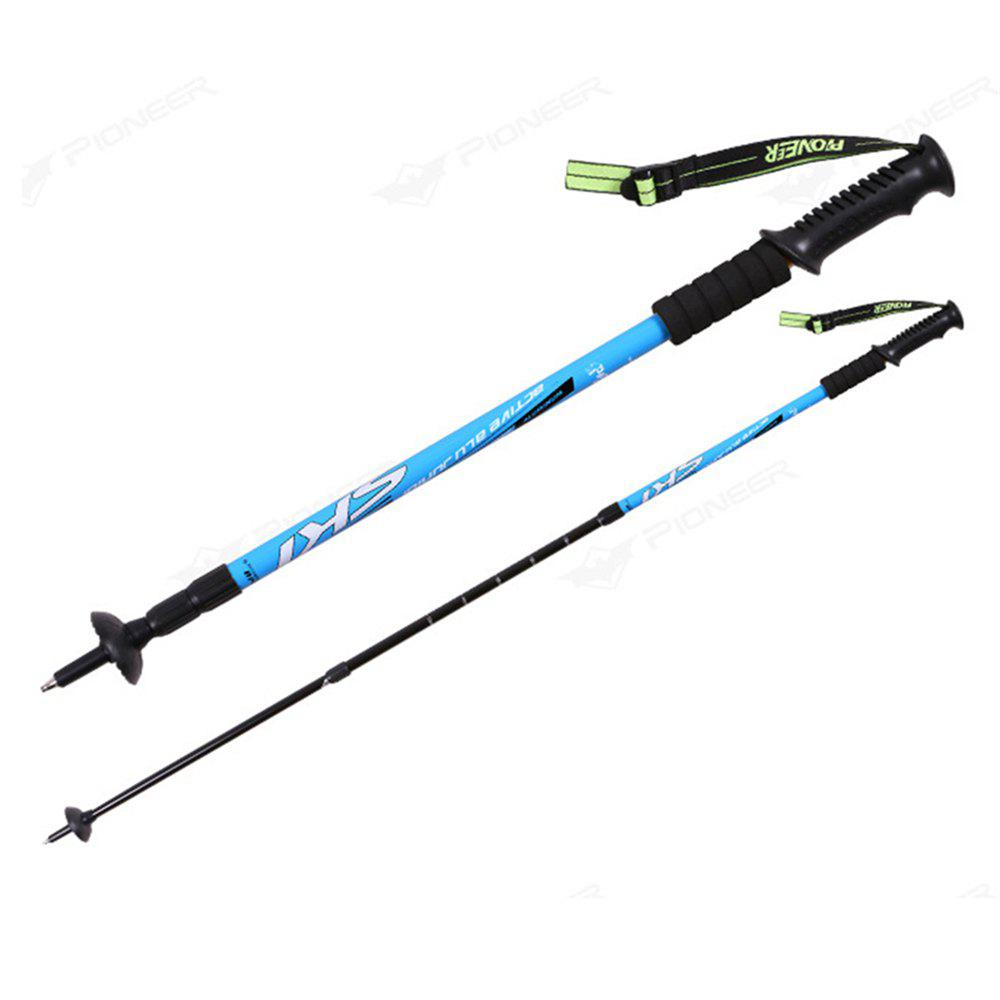 Trekking Poles Folding-Collapsible Hiking Poles Walking Stick - BLUE