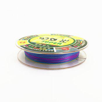 Outdoor Fishing 100 Meters PE Fishing Line 8 Wire Diameter - COLORMIX 0.600MM