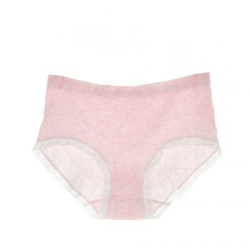 2017 Comfortable Colorful Cotton Women Briefs Fashion Lines Design for Sexy Girls - PINK 89F# PINK F