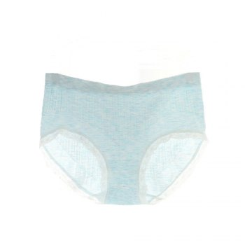 2017 Comfortable Colorful Cotton Women Briefs Fashion Lines Design for Sexy Girls - BLUE 3930# BLUE