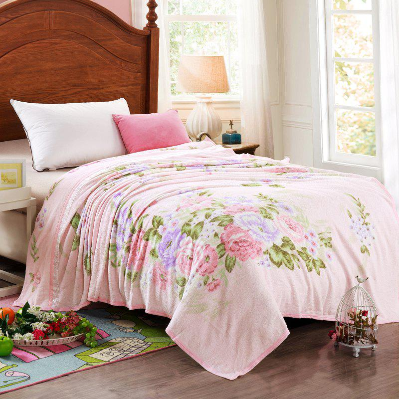 Fashionable Soft Printing Towel Blanket - PINK