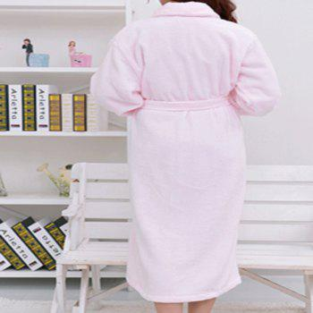 Thickened cotton towel bathrobe - PINK PINK