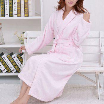 Thickened cotton towel bathrobe -  PINK