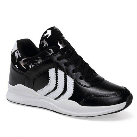 New Women's Running Shoes Fashion Sneakers Mesh Breathable Casual - BLACK 38