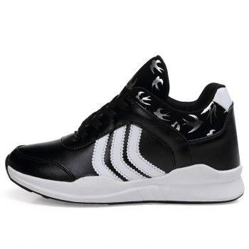 New Women's Running Shoes Fashion Sneakers Mesh Breathable Casual - BLACK 37