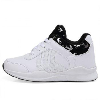 New Women's Running Shoes Fashion Sneakers Mesh Breathable Casual - SNOW WHITE 38