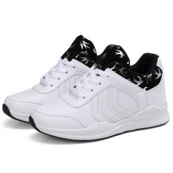 New Women's Running Shoes Fashion Sneakers Mesh Breathable Casual - SNOW WHITE 36