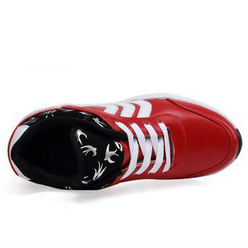 New Women's Running Shoes Fashion Sneakers Mesh Breathable Casual - RED 40