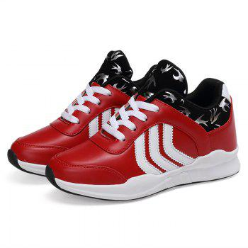 New Women's Running Shoes Fashion Sneakers Mesh Breathable Casual - RED 35